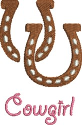 Cowgirl Horseshoe embroidery design