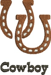 Cowboy Horseshoe embroidery design
