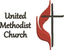 United Methodist Church embroidery design