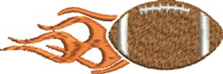 Flaming Football embroidery design