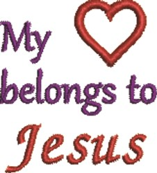 Heart Jesus embroidery design