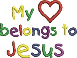Belongs To Jesus embroidery design