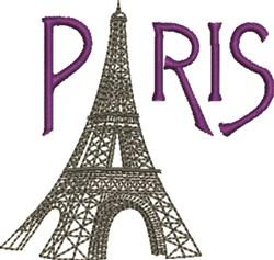 Paris Tower embroidery design