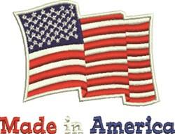 Made In America embroidery design