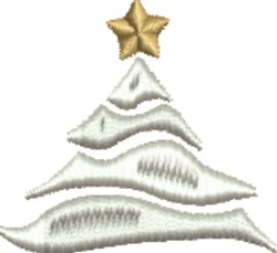 White Christmas embroidery design
