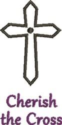 Crucifix Cherish The Cross embroidery design