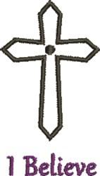Crucifix I Believe embroidery design