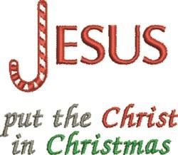 Jesus Christmas embroidery design
