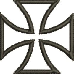 Maltese Cross embroidery design
