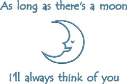 Think Of You Moon embroidery design