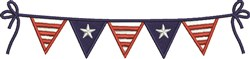 Patriotic Flags embroidery design