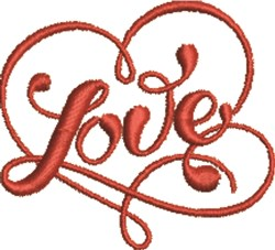 Valentines Day Love Heart embroidery design