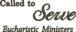 Eucharist Ministers embroidery design