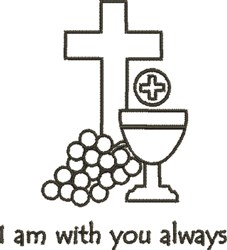 Eucharist Outline embroidery design