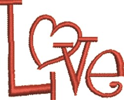 Heart of Love embroidery design