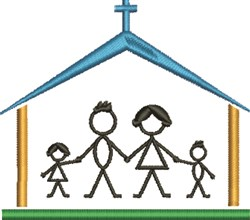 Church Family embroidery design