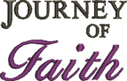 Journey of Faith embroidery design