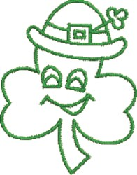 Smiling Shamrock embroidery design
