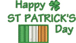 St.Patricks Day embroidery design