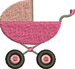 Baby Girl Carriage embroidery design