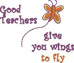 Good Teachers embroidery design