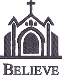Church Belive embroidery design