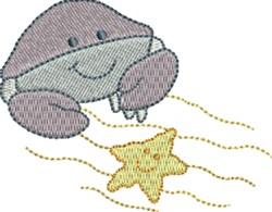 Crab & Starfish embroidery design