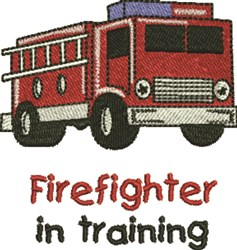 Firefighter In Training embroidery design