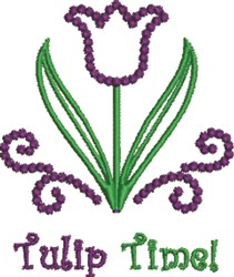 Tulip Time embroidery design