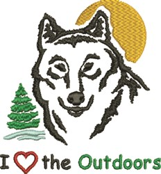 Love Outdoors embroidery design