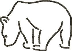Polar Bear Outline embroidery design