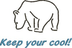 Keep Your Cool Bear embroidery design