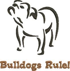 Bulldogs Rule! embroidery design