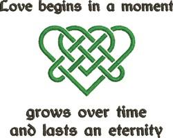 Celtic Heart Love Begins... embroidery design