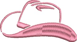 Cowgirl Hat Outline embroidery design