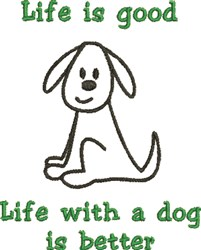 Life With A Dog... embroidery design