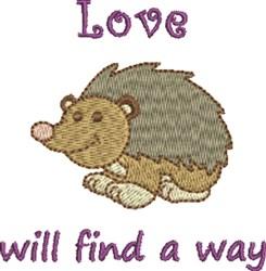 Hedgehog Love embroidery design