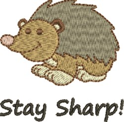 Stay Sharp Hedgehog embroidery design