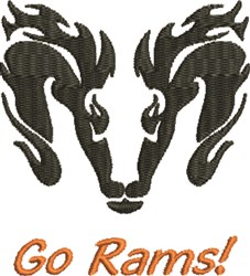 Go Rams! embroidery design