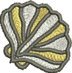 Large Seashell embroidery design