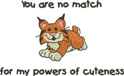 Powers Of Cuteness Tiger embroidery design