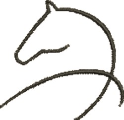 Abstract Horse embroidery design
