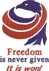 Patriotic Freedom embroidery design