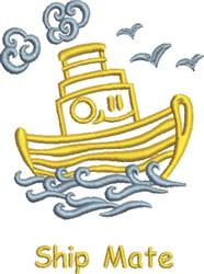 Ship Mate embroidery design