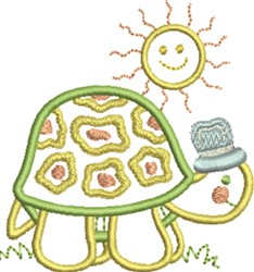 Happy Turtle embroidery design