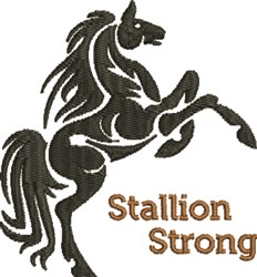 Stallion Strong embroidery design