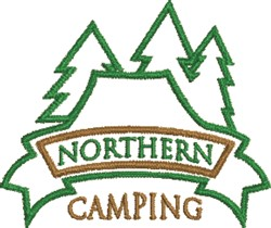 Northern Camping embroidery design