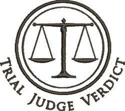 Trial Judge embroidery design