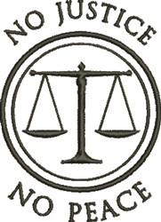 No Justice embroidery design