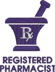 Registered Pharmacist embroidery design